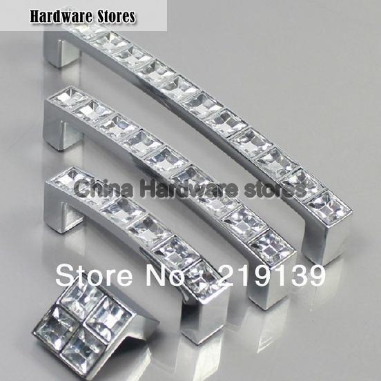 crystal zinc alloy cabinet door knobs and handles drawer kitchen pulls