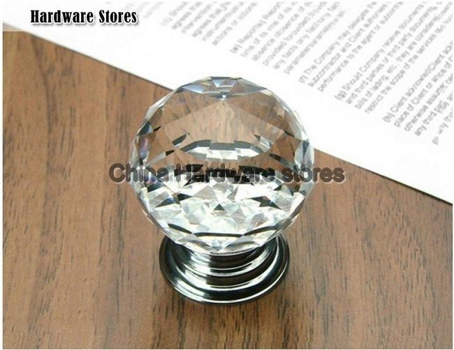 8pcslot 30mm k9 cabinet crystal knobs door handles furniture pull crystal shift knob