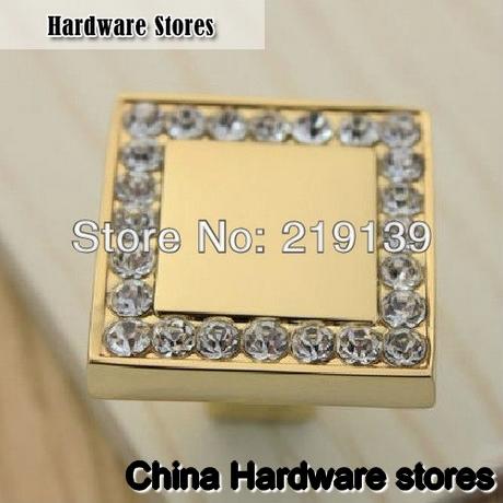 2pcs crystal zinc alloy furniture kitchen drawer cabinet for Kitchen set zink