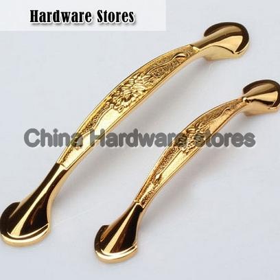 golden flowers zinc alloy antique drawer pull knob hardware cupboard door handles