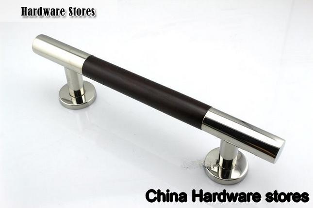 400mm 304 Stainless Steel &Walnut Glass & Wood Door Handles ...