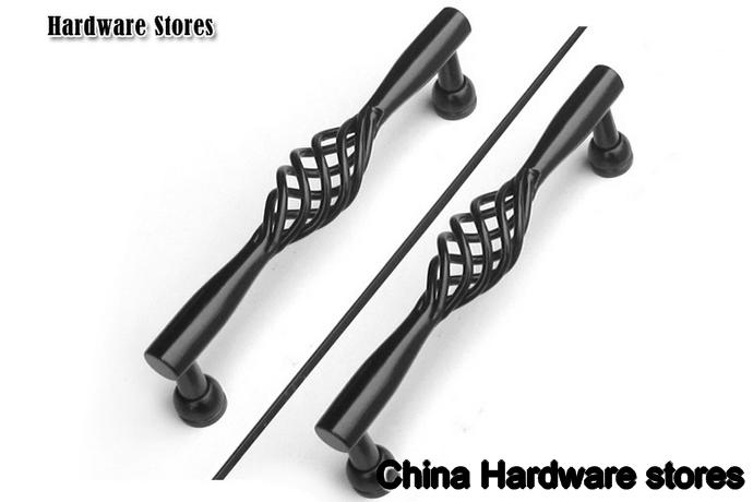 Wrought Iron Furniture Hardware #26: 160mm Garden Cabinet Hardware /cabinet Handle/ Kitchen Cabinet Handle , Black Pull Handle C