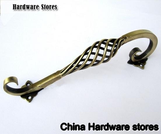 192mm furniture black iron antique brass birdcage handle kitchen cabinet handles unique knobs pulls black drawer