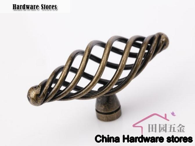 70mm black birdcage knob cabinet furniture drawer for 70mm cabinet pulls