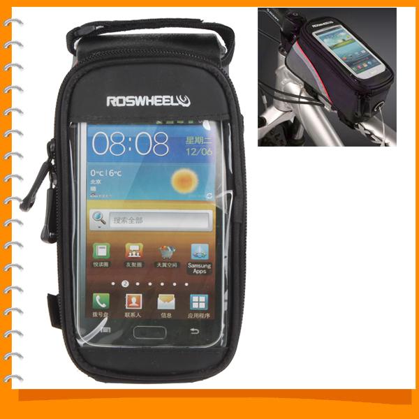 roswheel 5 5 inch waterproof cycling bike phone bag front