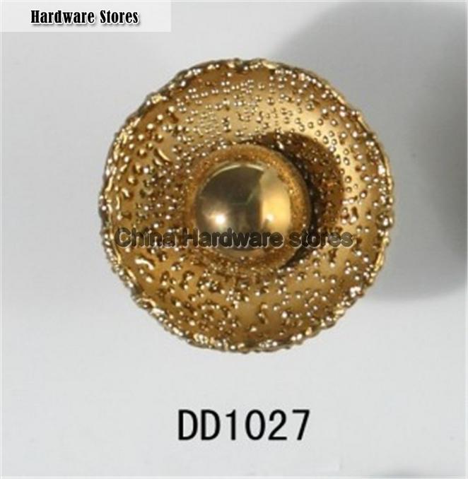 Flower Round Ceramic Knob Gold Plated Antique Furniture Knob Wardrobe  Cupboard Knobs Drawer Dresser Knobs Cabinet