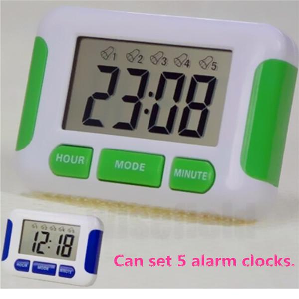 Best Price Lcd Display Alarm Clock 5 Groups Noisy Bell 12