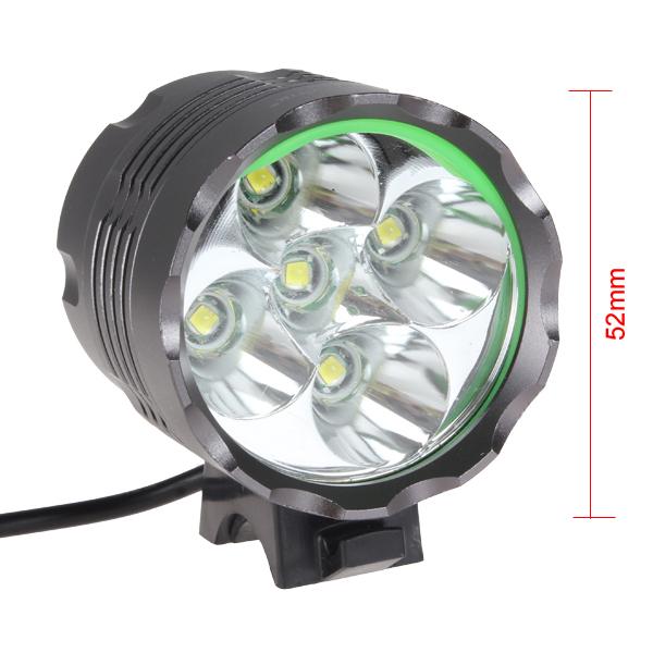 Securitylng High Power 6000 Lumen 5 X Cree Lb Xl T6 Led Bike Lamp