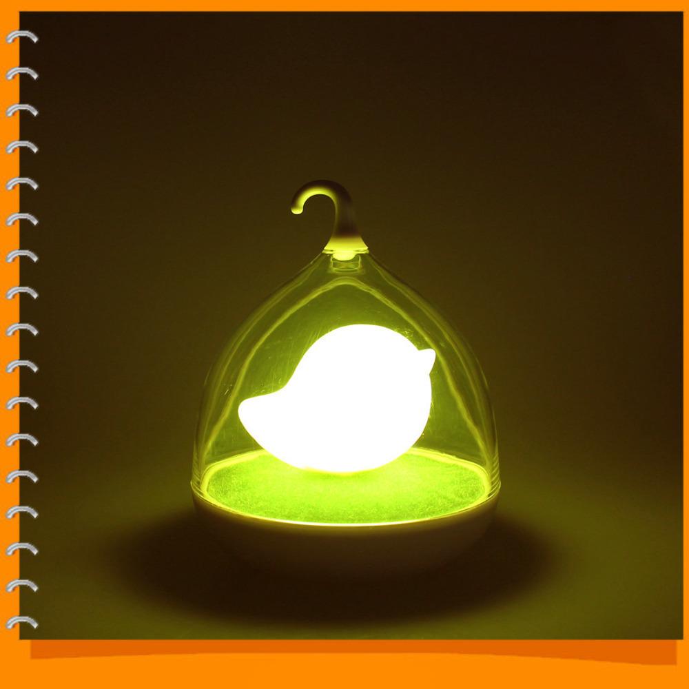 Creative Birdcage Lovely Led Night Light Touch Sensor