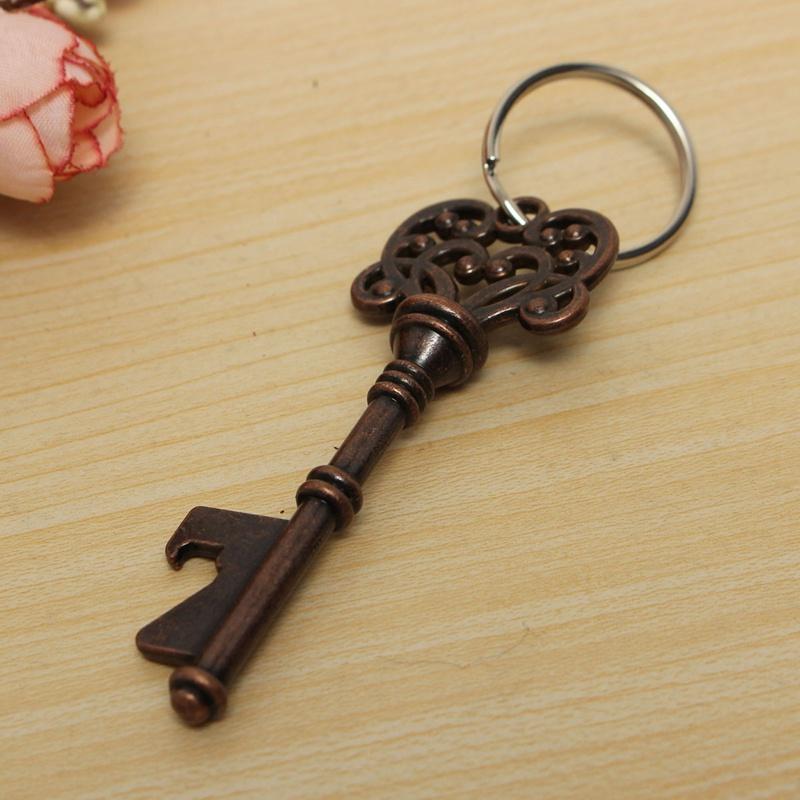 brand new vintage look skeleton key shaped bottle opener keyring keychain bar tool party. Black Bedroom Furniture Sets. Home Design Ideas